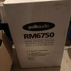 New In box- Polk RM 6750 audio Home theatre system for Sale in Rockville, MD