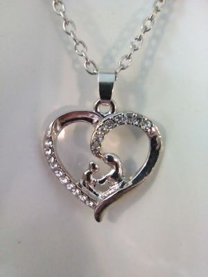 Mother and Child Heart Necklace for Sale in Columbus, OH
