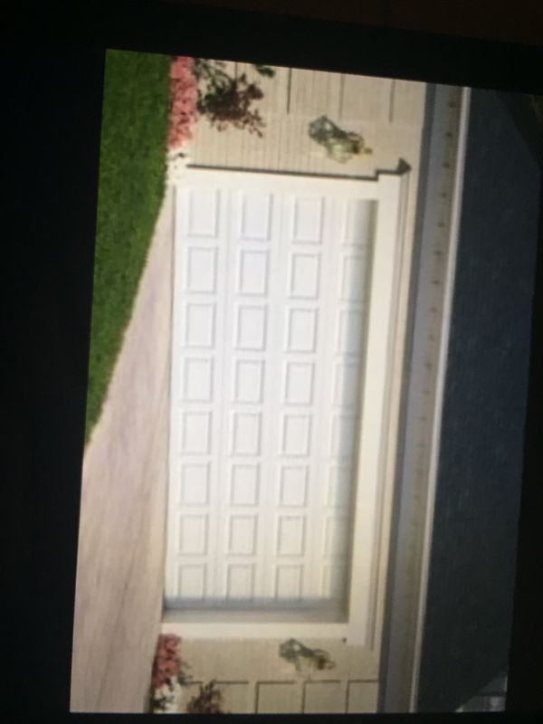 Double car garage door $775.00 including install