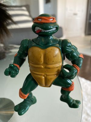 1991 Playmates Teenage Mutant Ninja Turtles Headdroppin' Michaelangelo for Sale in Fayetteville, NC