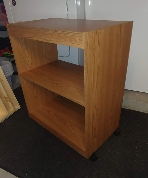 Wooden Rolling Bookcase