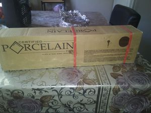 Brand new porcelana 8 boxes of floor take all for$250 price frim very hevy for Sale in Las Vegas, NV