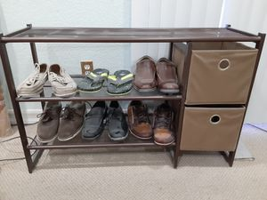 Costco Shoe Rack with extra storage for Sale in Moreno Valley, CA