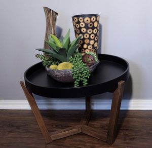 Mid Century Modern Round Wood Coffee Table for Sale in New Albany, OH