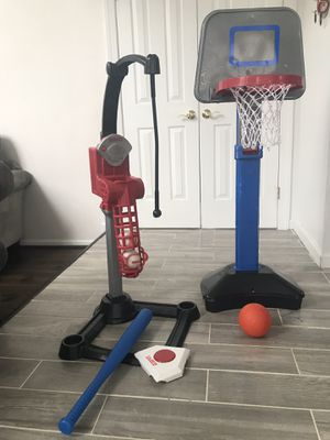 Kids basketball hoop and baseball set, sports for Sale in Gaithersburg, MD