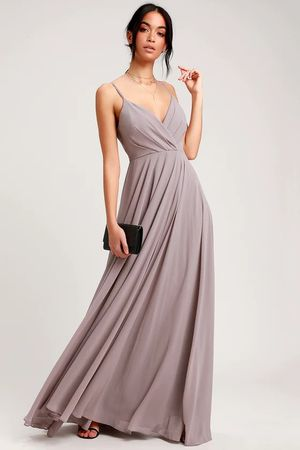 Lulus Taupe Maxi Dress Gown Bridesmaid Prom Formal for Sale in Westminster, CA
