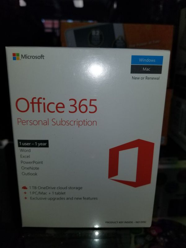 Microsoft Office 360 Personal Subscription 1yr BRAND NEW: $59.99 - OR - $39.98 w/computer purchase