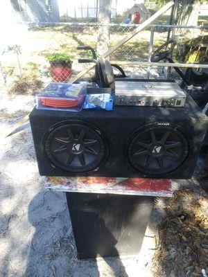 12 kicker Comp Vr Mephis mono block amp kit bass knob for Sale in Winter Haven, FL