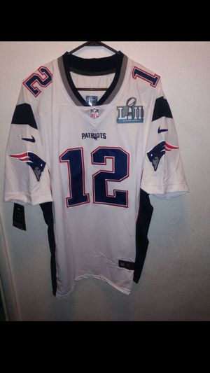 PATRIOTS SUPERBOWL PATCH STITCHED BRADY JERSEY for Sale in Orange, CA