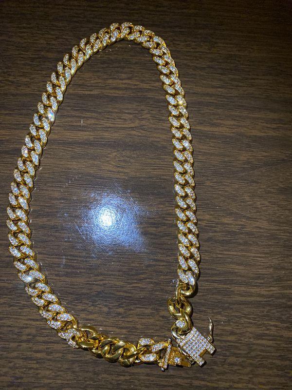 Gold diamond chain (real diamond