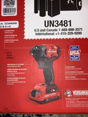 "Craftsman 1/4"" impact driver kit for Sale in Auburn, WA"