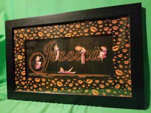 DISNEY RARE JESSICA RABBIT FRAMED 5 PIECE PIN SET for Sale in Beaumont, CA