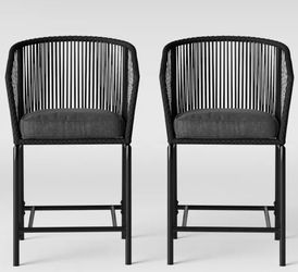 Bar Height Patio Chairs Charcoal - 2 Pack for Sale in Duluth,  GA