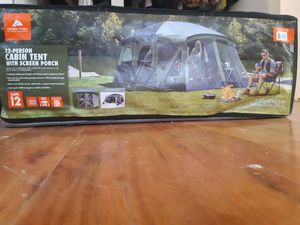 12 person cabin tent with screened in front porch for Sale in Saint Joseph, MO