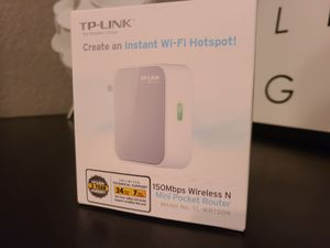 TP-Link 150Mbps Wireless N Travel Router TL-WR700N 802.11n WiFi for Sale in Clearwater, FL