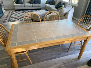 Farmhouse-style antique table and chairs for Sale in Escondido, CA