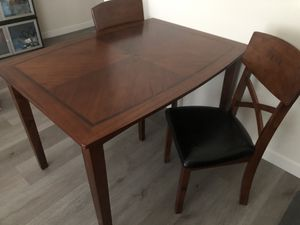 Wood dining table with 4 chairs for Sale in Rosemead, CA
