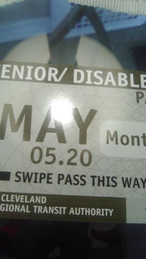 RTA may monthly senior and disabled bus pass for Sale in Cleveland, OH