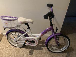 "Kids Girl Bike 16"" wheels with Brand New Basket for Sale in Herndon, VA"