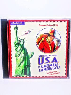 Vintage Carmen Sandiego CD-ROM for Sale in Garland, TX