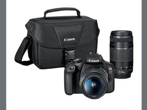 Canon - EOS Rebel T7 DSLR Two Lens Kit with EF-S 18-55mm and EF 75-300mm Lenses for Sale in Brooklyn, NY