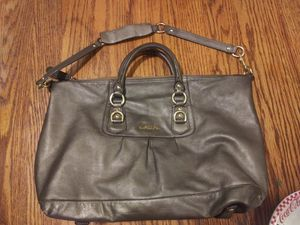 Coach purse grey genuine leather for Sale in Fresno, CA