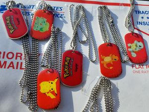 Pokemon collectable dog tags RARE! for Sale in Everett, WA