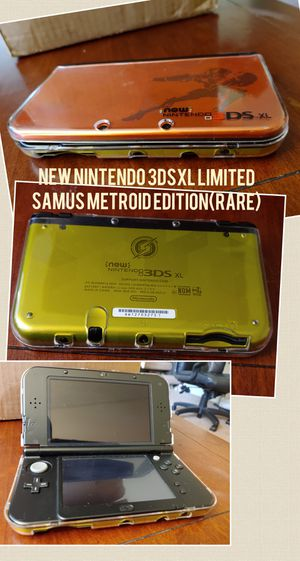 NEW NINTENDO 3DSXL RARE LIMITED SAMUS METROID EDITION NEW 3DSXL W/CLEAR BODY CASING 100%💥 for Sale in Escondido, CA