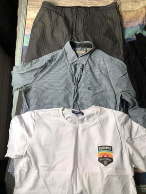 Burberry shirt and some tee shirts and pants for Sale in San Diego, CA