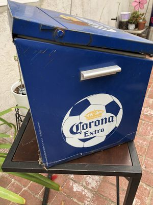 Dodge blue Corona extra futbol metal ice cooler - SEE MY OTHER OFFERS for Sale in La Mirada, CA