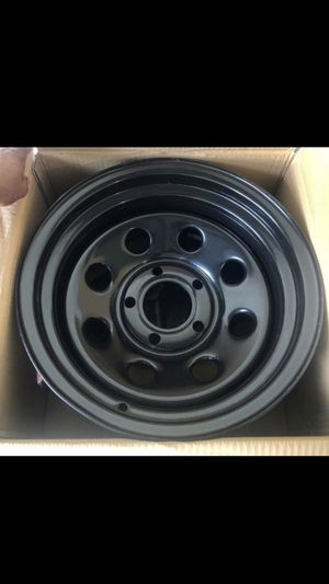 New 15x8 Chevy or jeep 5x5 lug wheels for Sale in Kissimmee, FL