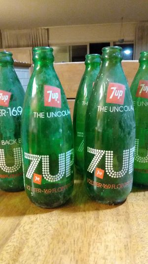 Vintage 7Up bottles glass $5 each or $25 for all for Sale in San Lorenzo, CA