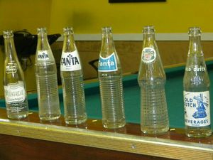 Original antique glass with different types soda bottles for Sale in Chicago, IL