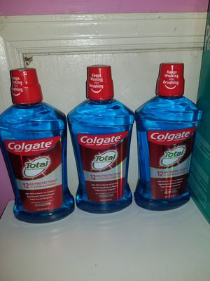 3 colgate total mouthwash 1lt for Sale in Lanham, MD