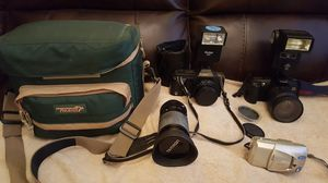 Nice lot of 35mm Canon manual, AF cameras and Tamron Lenses for Sale in Las Vegas, NV