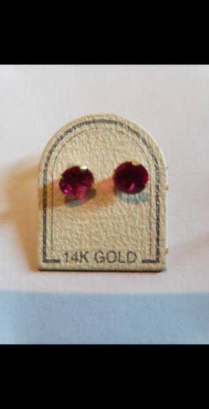 14k real gold earrings for Sale in Visalia, CA