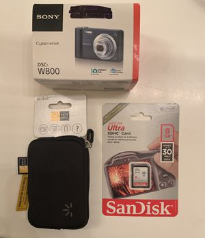 Sony Cyber-shot DSC-W800 Digital Camera w/ accessories for Sale in Riverside, CA