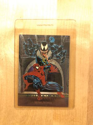 Marvel masterpiece Spider-Man vs venom limited edition collectible card for Sale in Los Angeles, CA