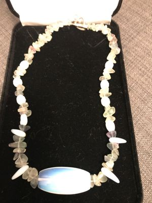 Made of beautiful real stone necklace moldavite, moonstone, for Sale in Los Angeles, CA