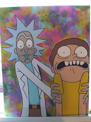 Rick and morty canvas painting for Sale in Columbus, OH