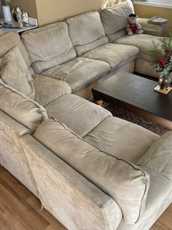 La Z Boy Sofa With Recliner And Bed for Sale in Foster City,  CA