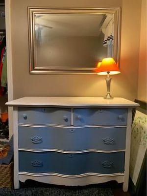 Blue ombré, solid oak dresser for Sale in Nashville, TN