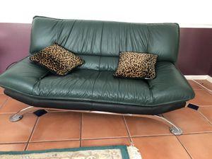 Living Room Set - Hunter Green Leather for Sale in Huber, GA