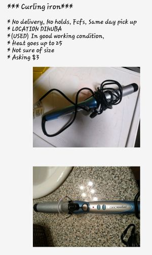 (USED) Curling iron $3 for Sale in Dinuba, CA