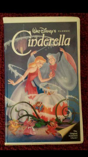 Walt Disney's Cinderella Black Diamond Classic Red Signature 1988 VHS 410 for Sale in Mesa, AZ