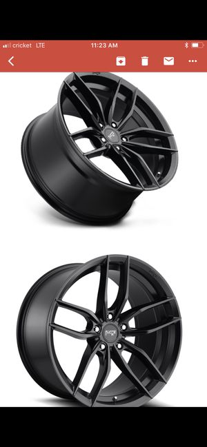 Niche 22 inch 5 lug rims with brand new lionheart low pro high performance tires for Sale in Denver, CO