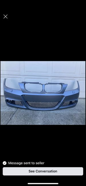 Bmw e90 msport front bumper needs work no fog lights or grills for Sale in Sacramento, CA