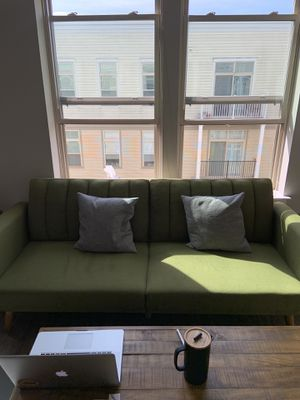 Olive green modern sofa for Sale in Washington, DC