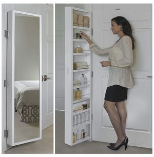Cabidor Deluxe | Mirrored | Behind The Door | Adjustable | Medicine, Bathroom, & Kitchen Storage Cabinet for Sale in Rancho Cucamonga, CA