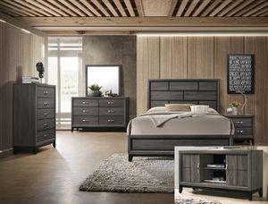 BRAND NEW TWIN FULL QUEEN BEDROOM SET INCLUDES BED FRAME DRESSER MIRROR AND NIGHTSTAND ADD MATTRESS ALL NEW FURNITURE BY USA MEXICO FURNITURE for Sale in Claremont, CA